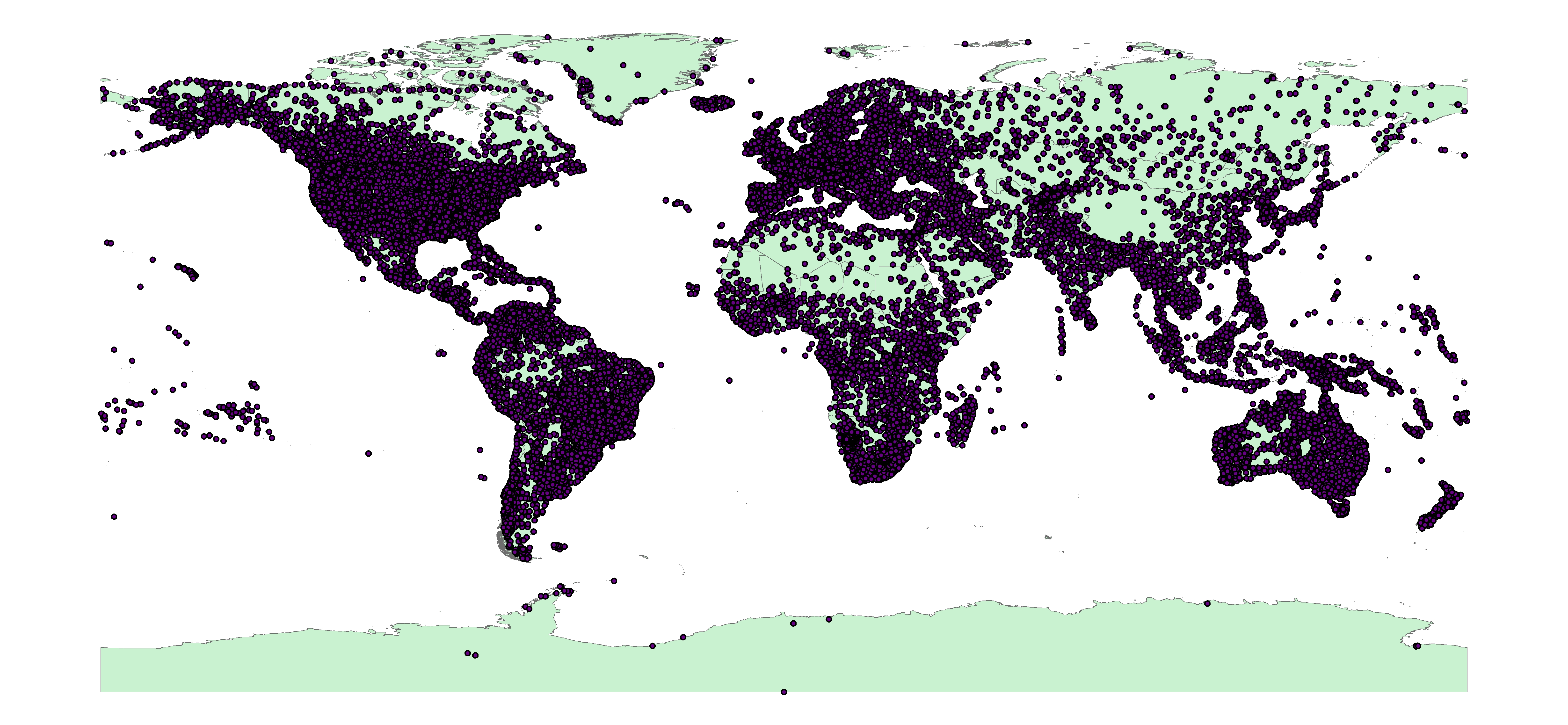 Global Airports Shapefile Revolutionary Gis