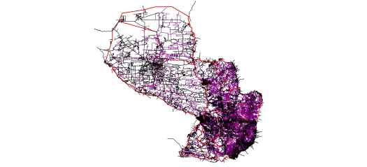 paraguay_street_network_shapefile_2016_compared_to_OSM